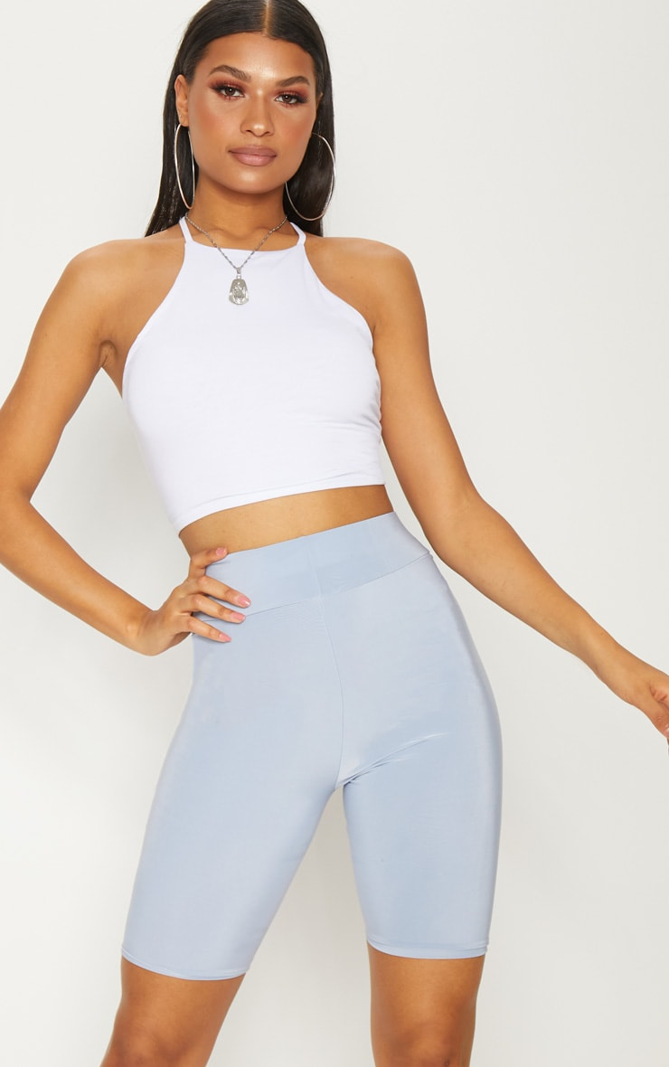 White Strappy Back Crop Top 2