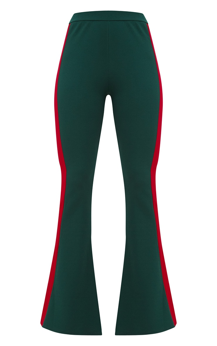 Emerald Green Sports Stripe Flared Trouser 3