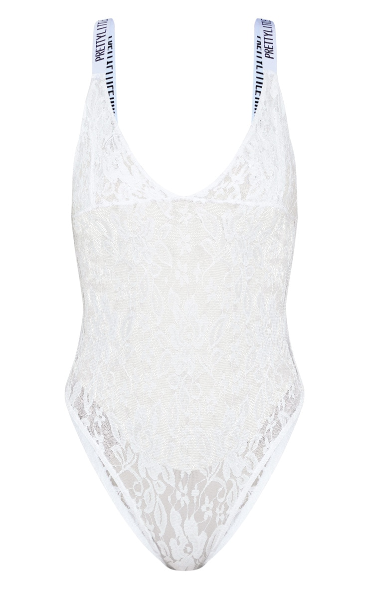 PRETTYLITTLETHING White Lace Body 3