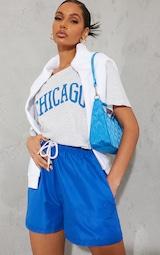 Ash Grey Chicago Graphic Oversized T Shirt 3