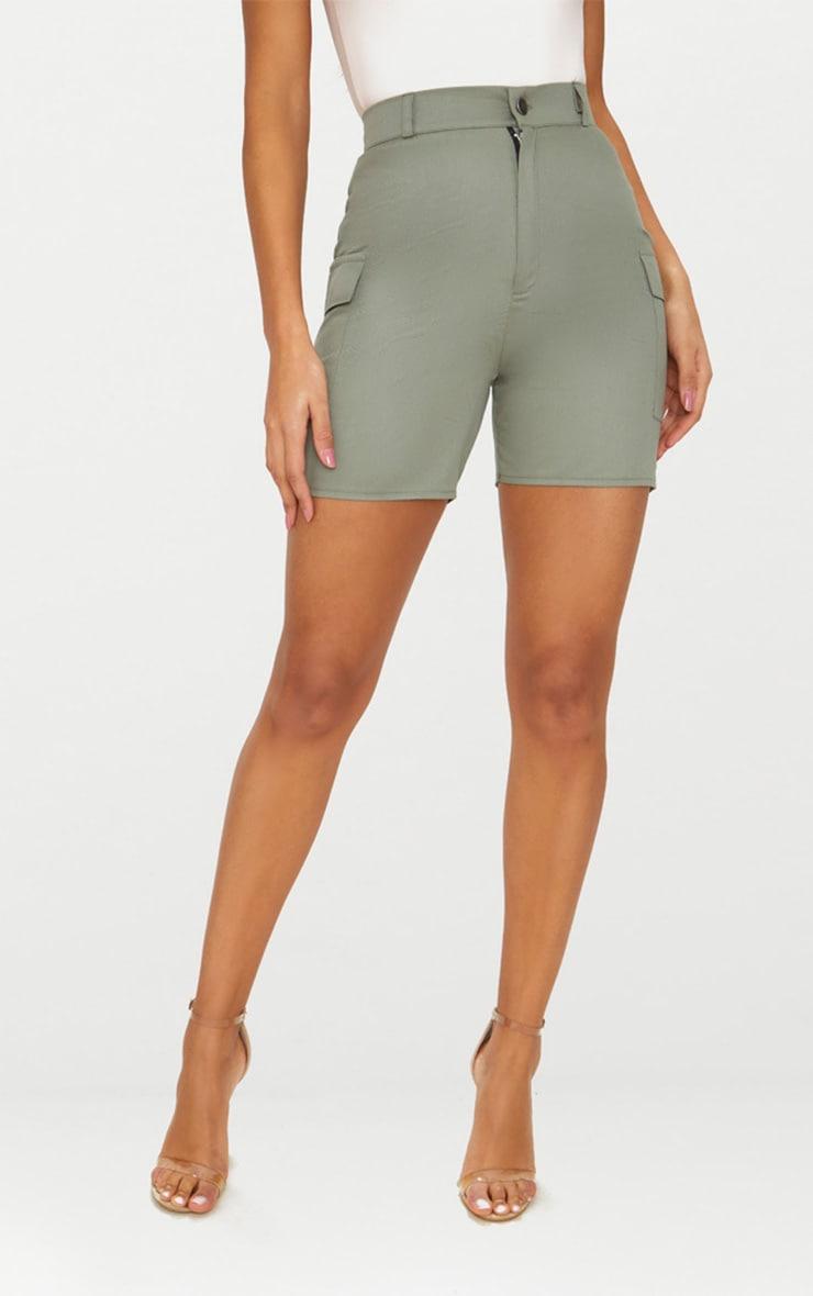Khaki Cargo Pocket Shorts 2