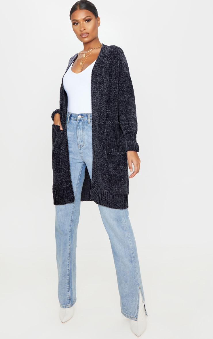 Charcoal Chenille Cardigan 1