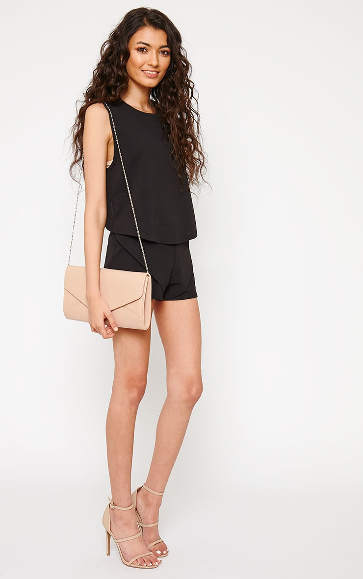 Devon Black Wrap Back Crop Top 3
