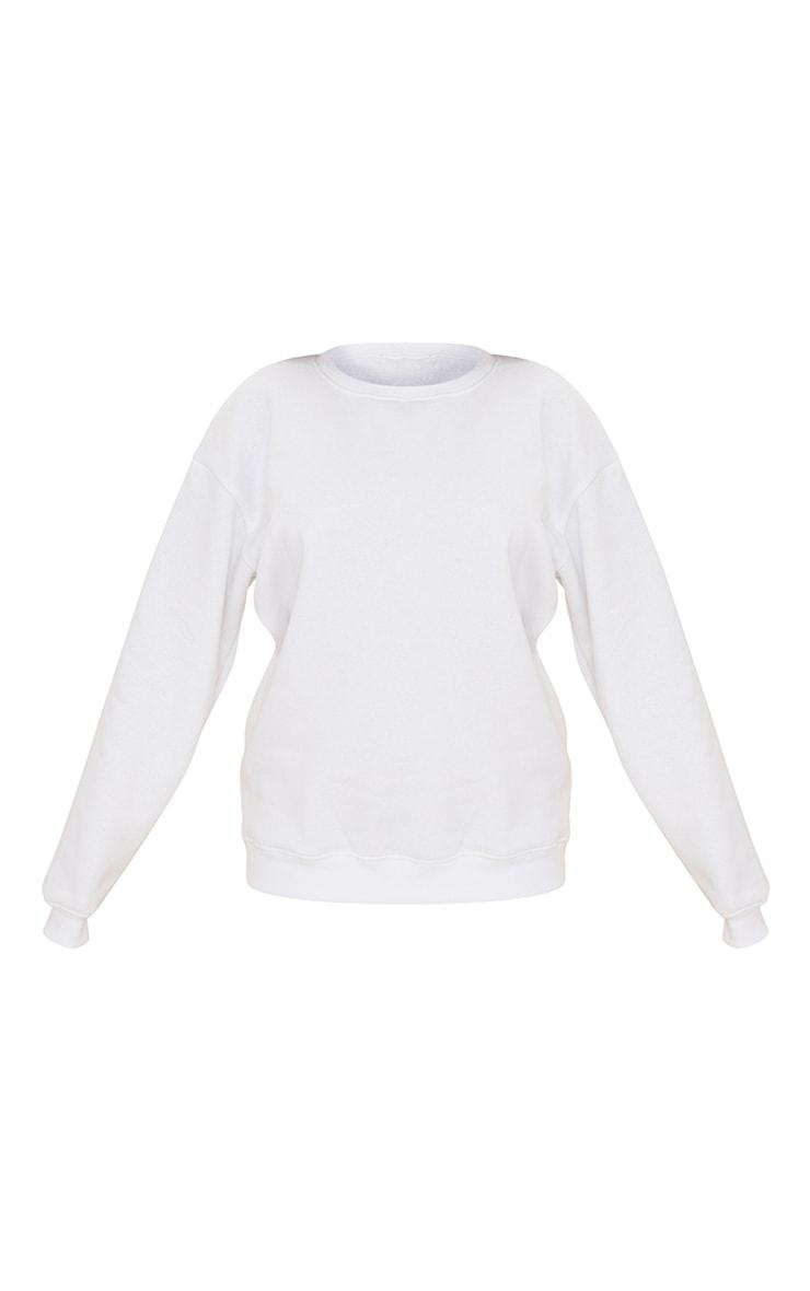 Recycled White Oversized Sweatshirt 5