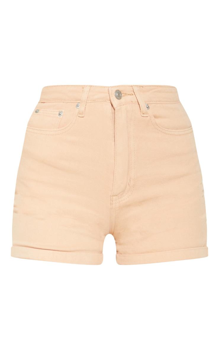 Dark Peach Turn Up Mom Shorts 3