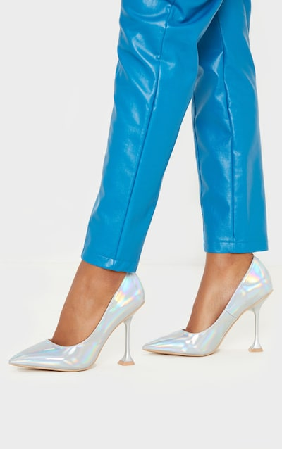 Holographic Cake Stand Heel Court Shoe