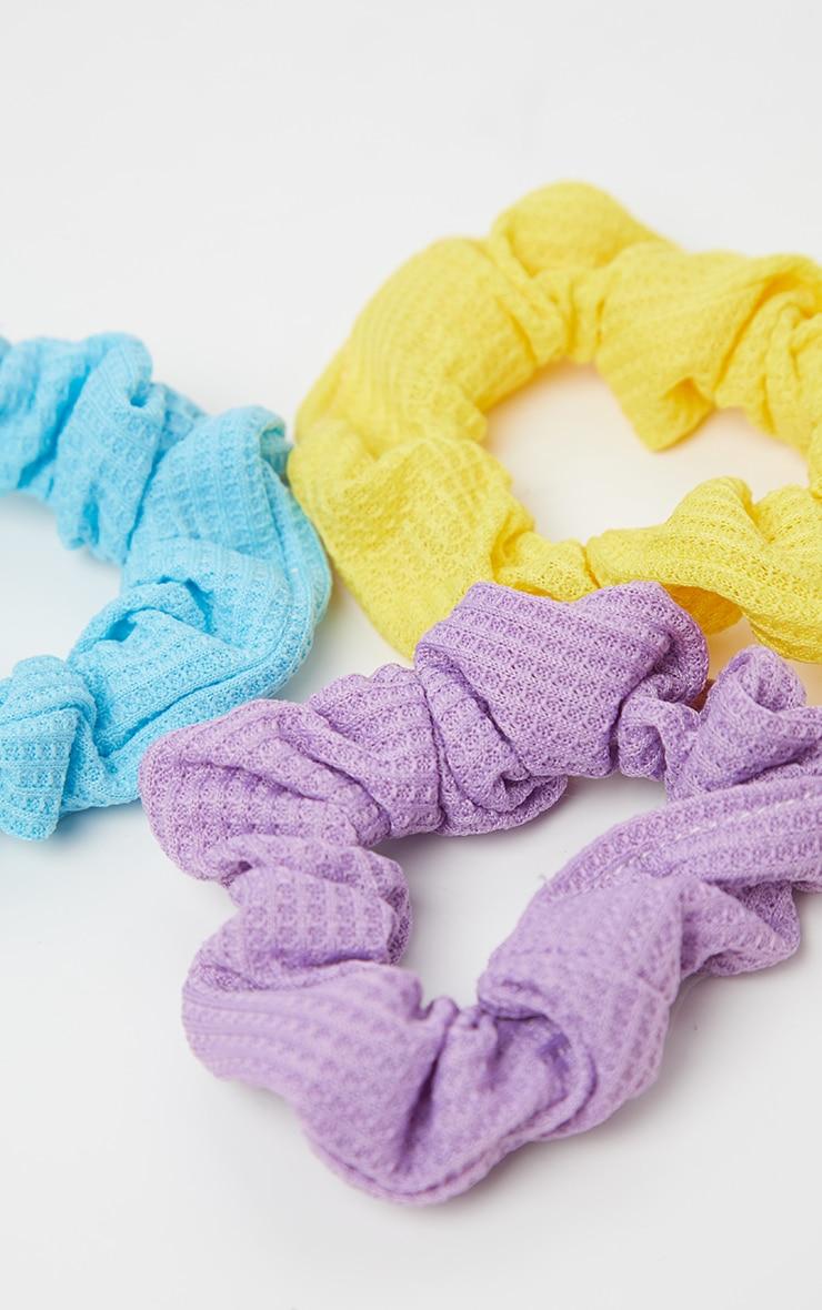 Lot de 3 chouchous - Lilas, bleu, jaune  4