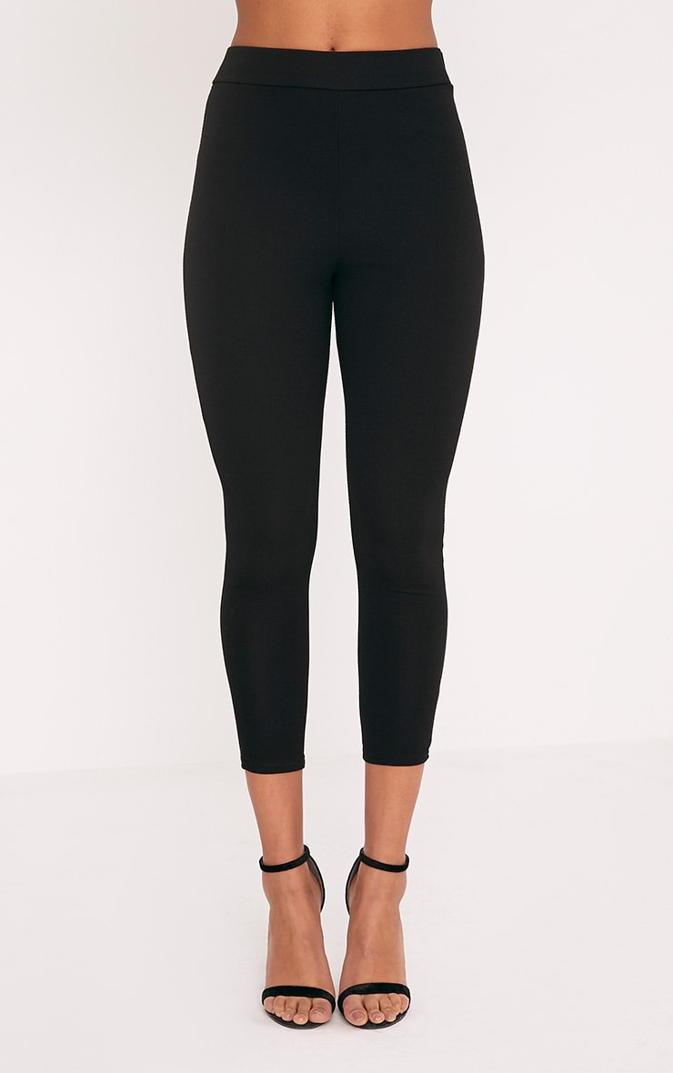 Evalyn Black Cropped Trousers 2