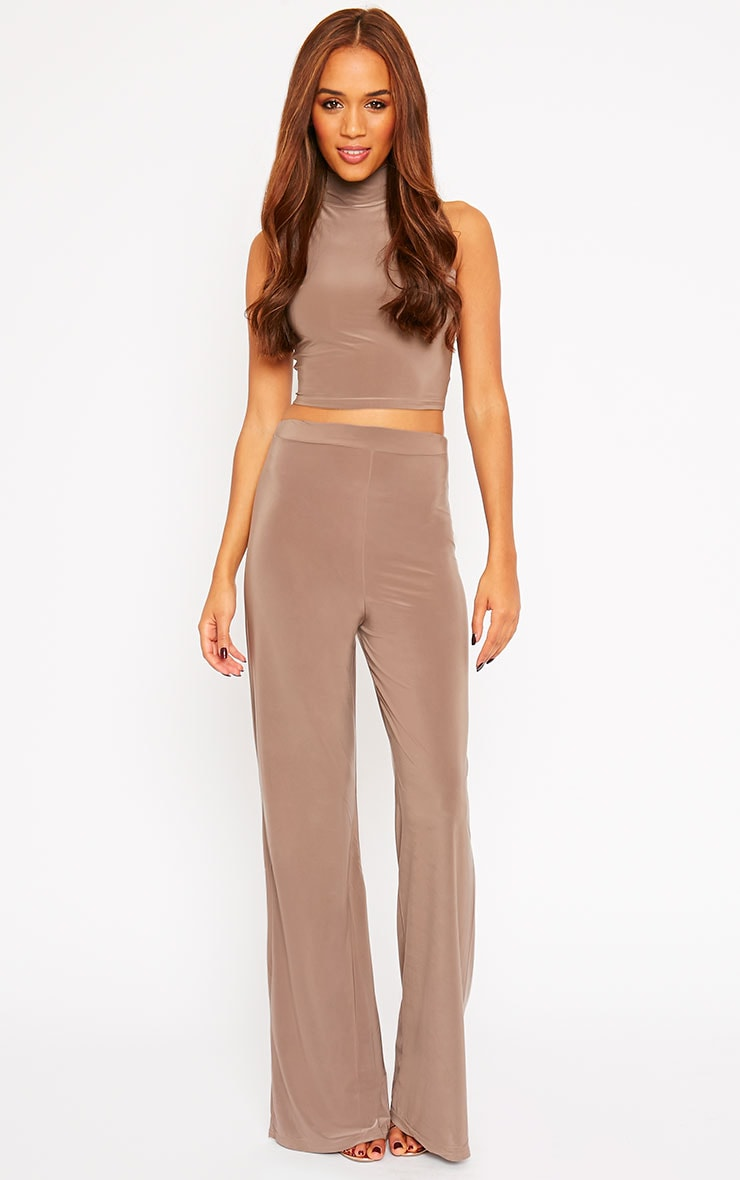 Remi Mocha Soft Touch Wide Leg Trousers 3
