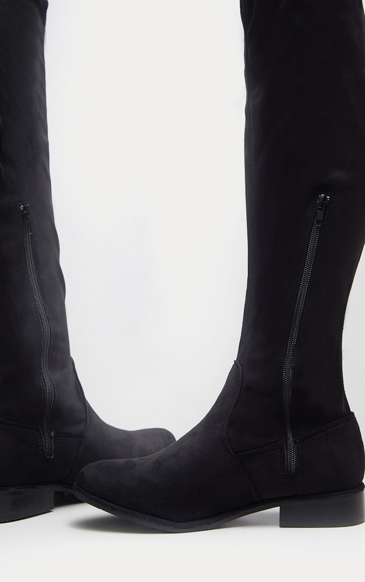 Black Flat Over The Knee Boot 4