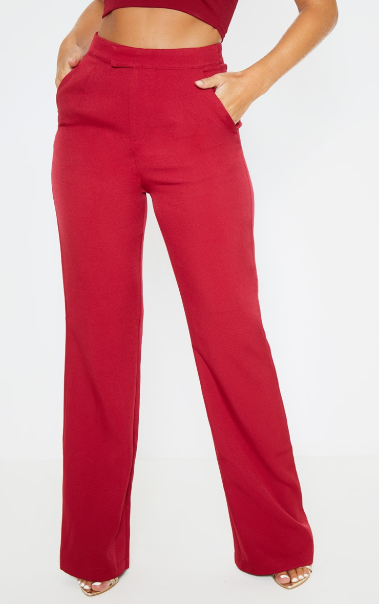 Wine Flared Trouser  2