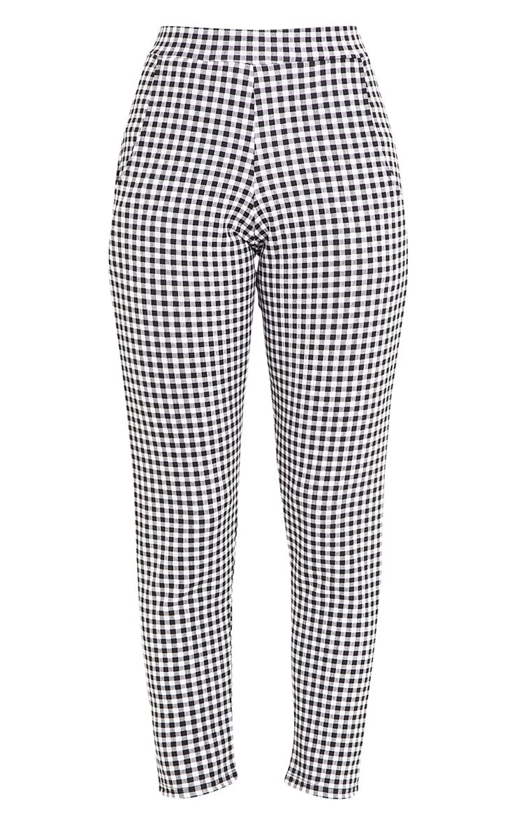 Sage Black Gingham Trousers 3