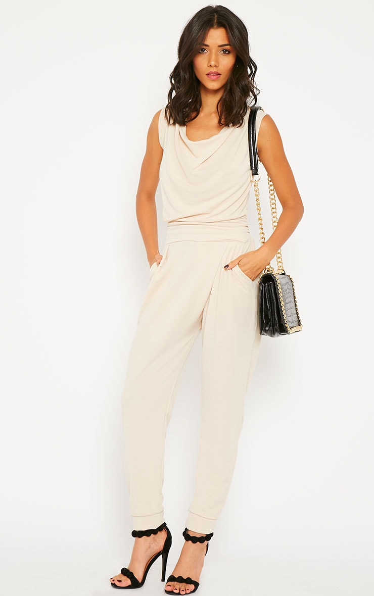 Cheris Cream Cowl Neck Jumpsuit 4