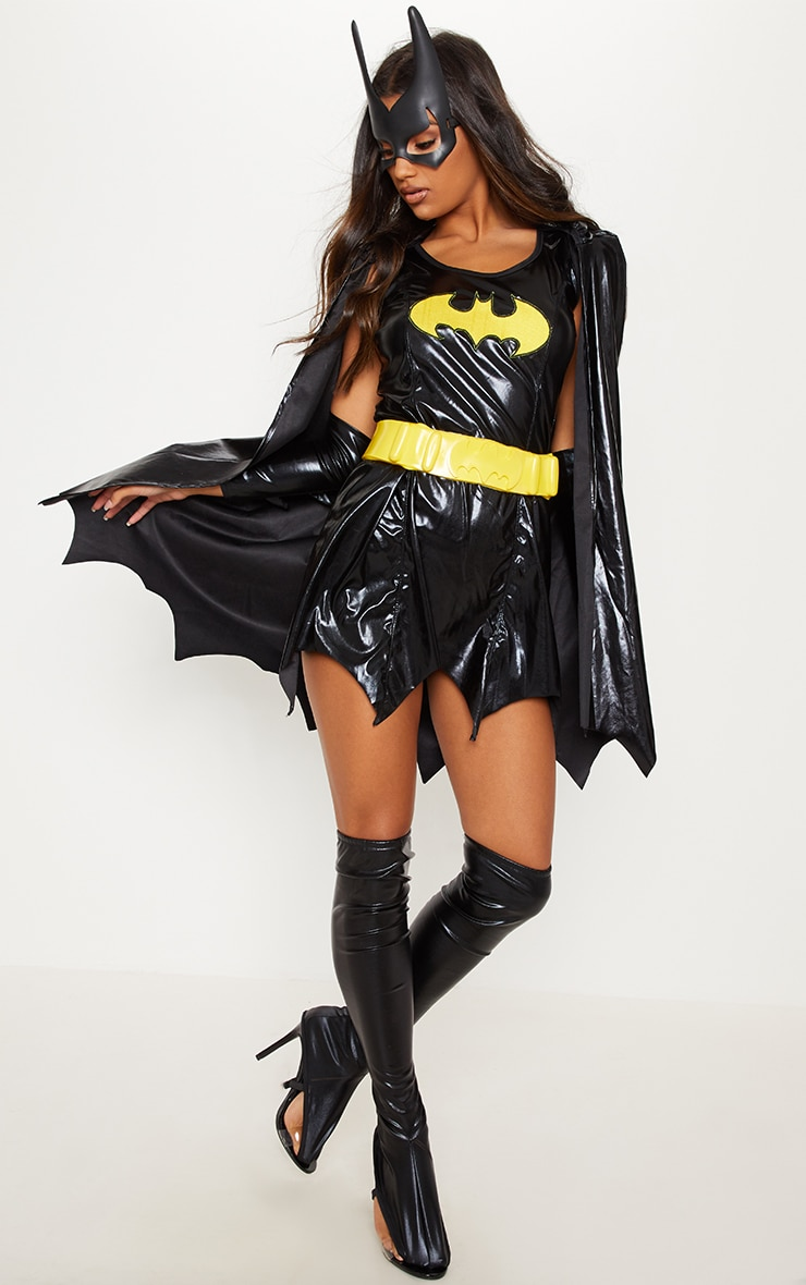 Black Batgirl Fancy Dress Costume by Prettylittlething
