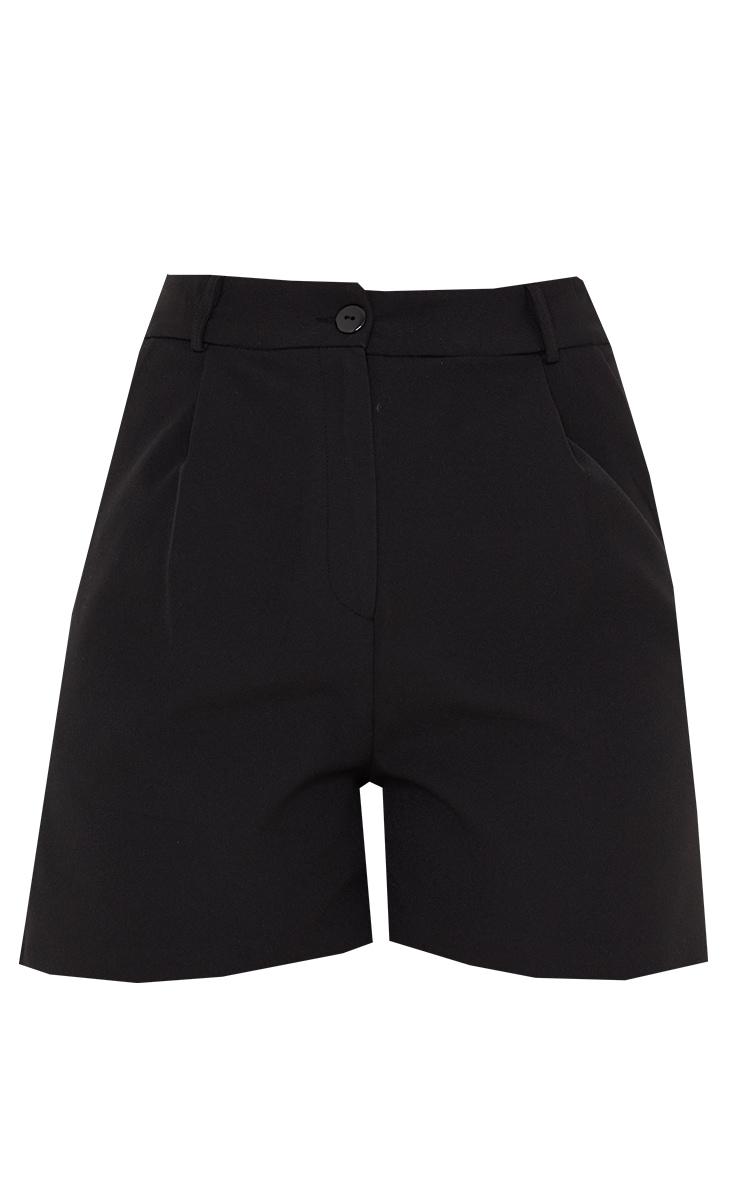 Black Woven Tailored Runner Shorts 6