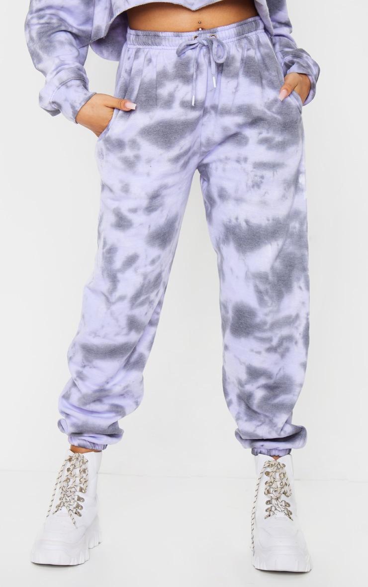 Petite Lilac Acid Wash Joggers 2