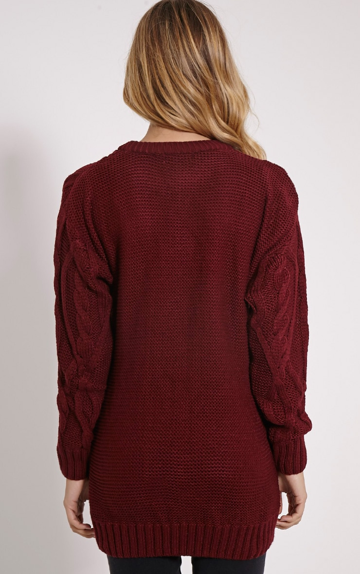 Moon Wine Cable Knit Mid Jumper 2
