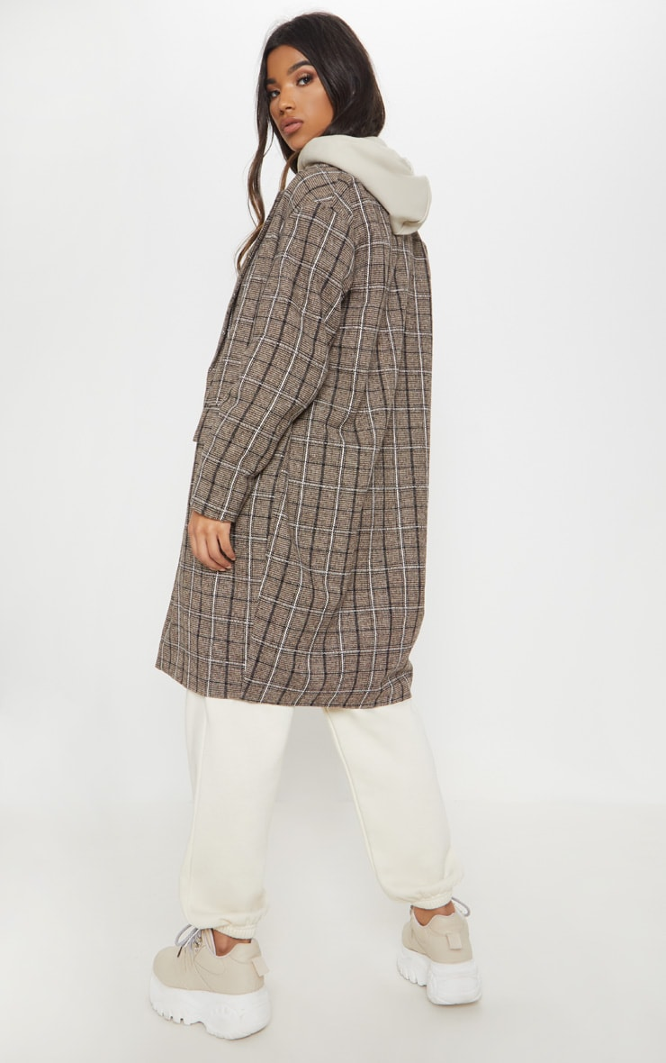 Brown Checked Coat 2