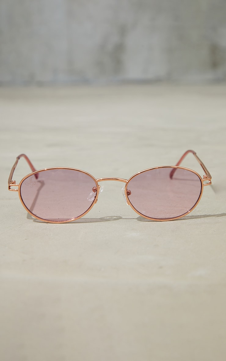 Jeepers Peepers Gold Roundframe Sunglasses 3