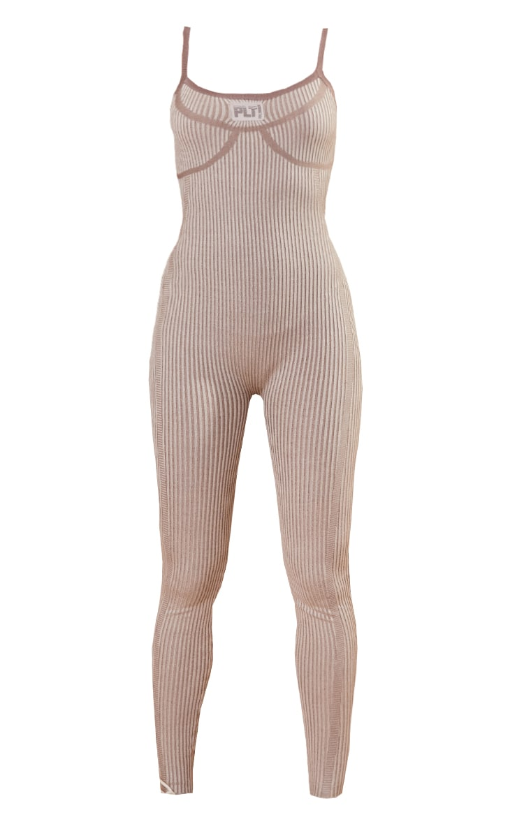 PRETTYLITTLETHING Stone Bust Detail Strappy Jumpsuit 5