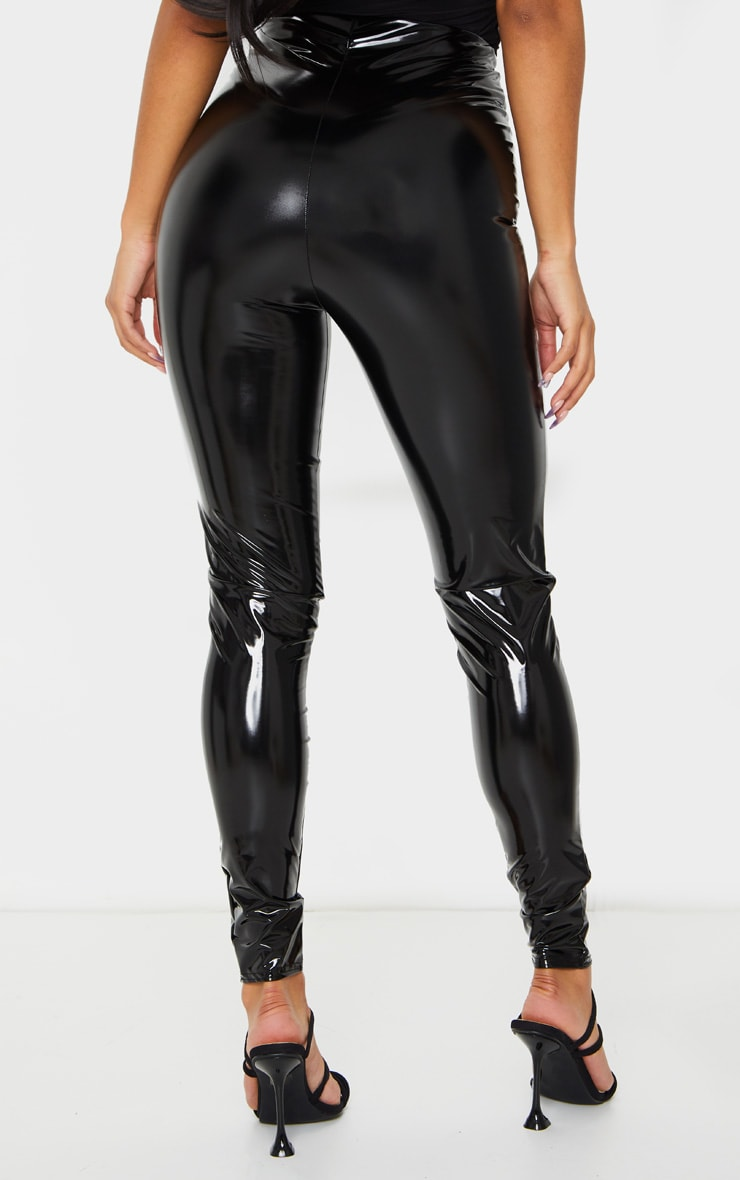 Black High Waisted Vinyl Legging 3