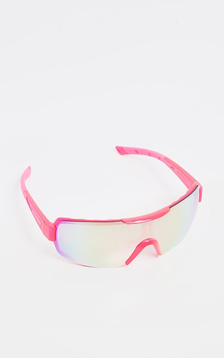 Neon Pink Revo Sports Visor Sunglasses   2