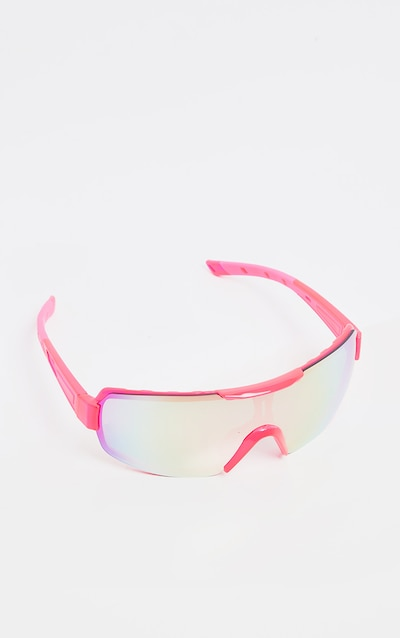 Neon Pink Revo Sports Visor Sunglasses