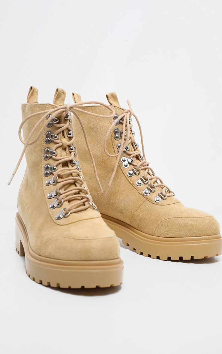 Sand Chunky Sole Hiker Boot 3