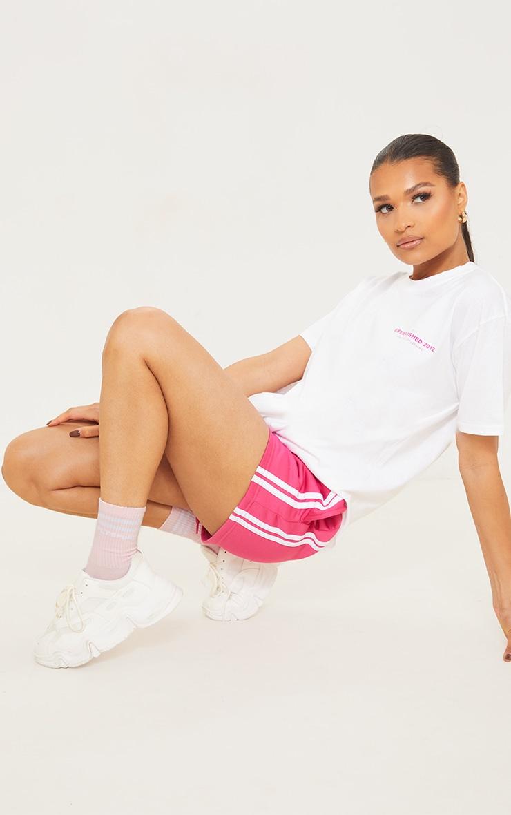 PRETTYLITTLETHING Baby Pink Sports Socks 2