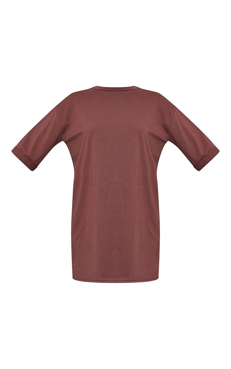 Chocolate Oversized Boyfriend T Shirt Dress 5