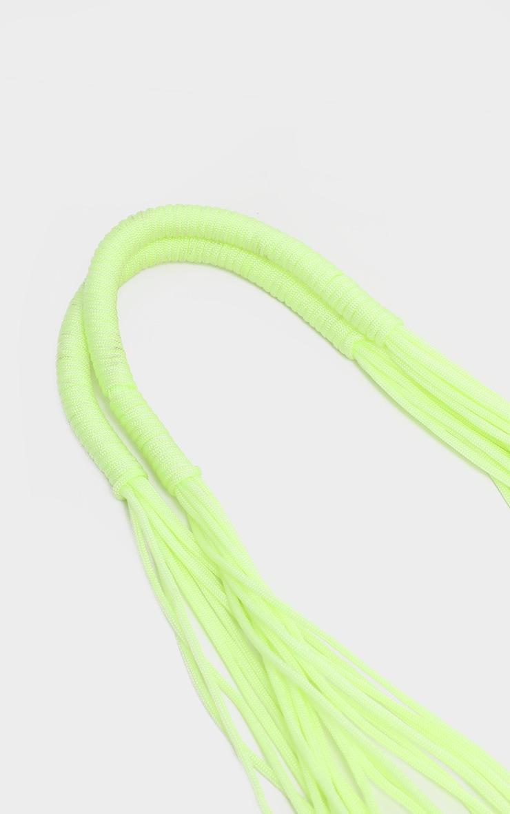 Lime Net Woven Tote Bag 3