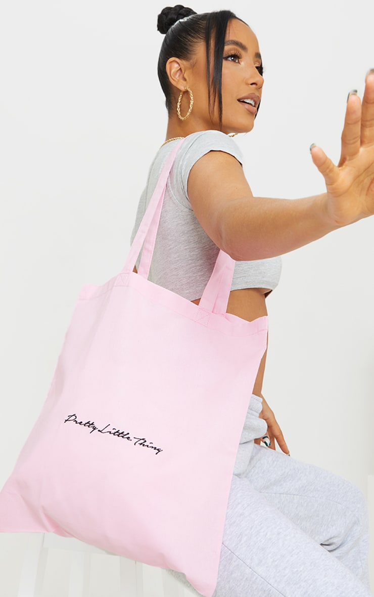 PRETTYLITTLETHING Pink Tote Bag 1