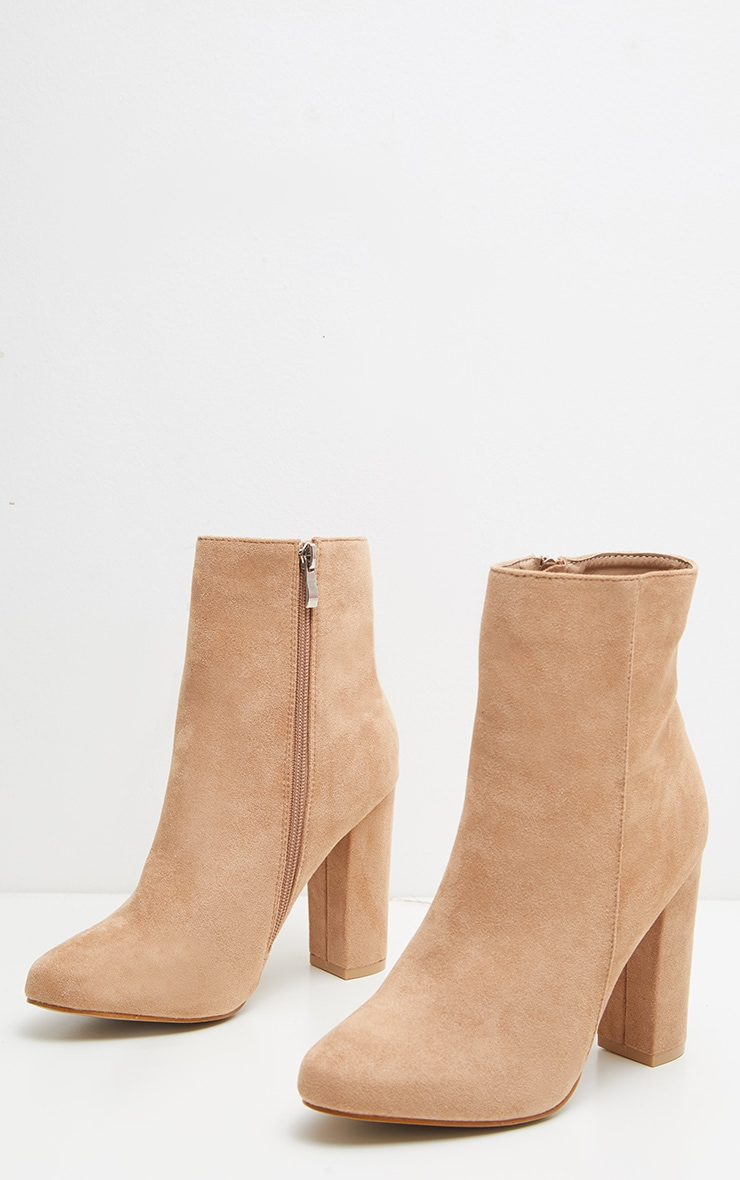 Behati Stone Faux Suede Ankle Boots 4