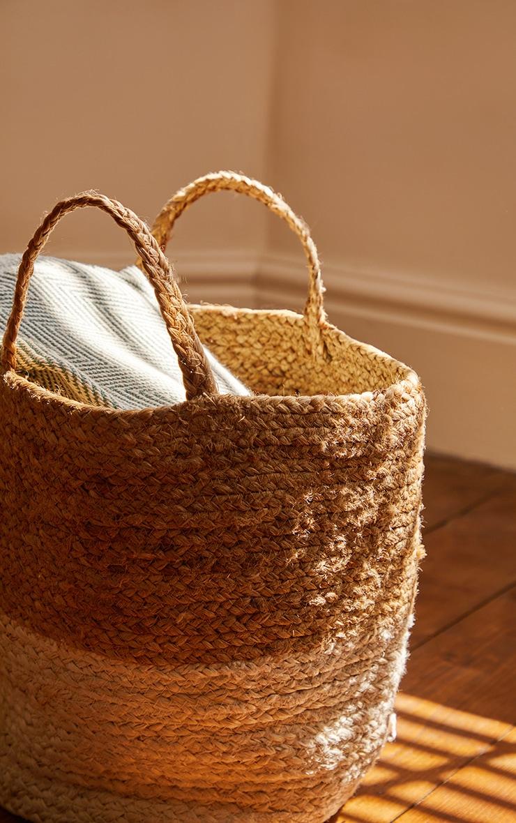 Natural Round Woven Basket 2