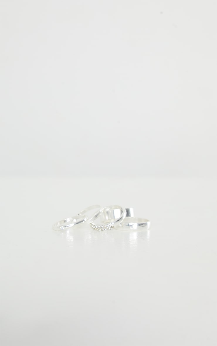 Silver Multi Assorted Pack Rings 2