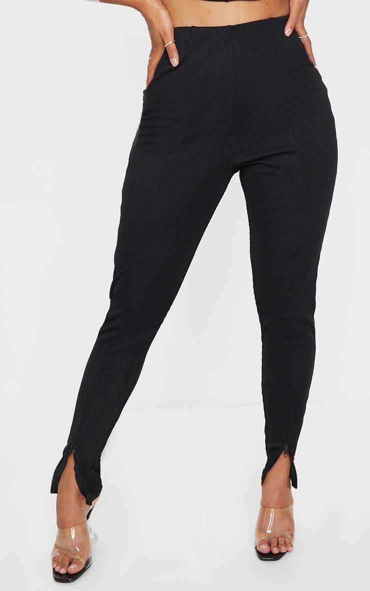 Shape Black Jumbo Rib Zip Side Leggings 2