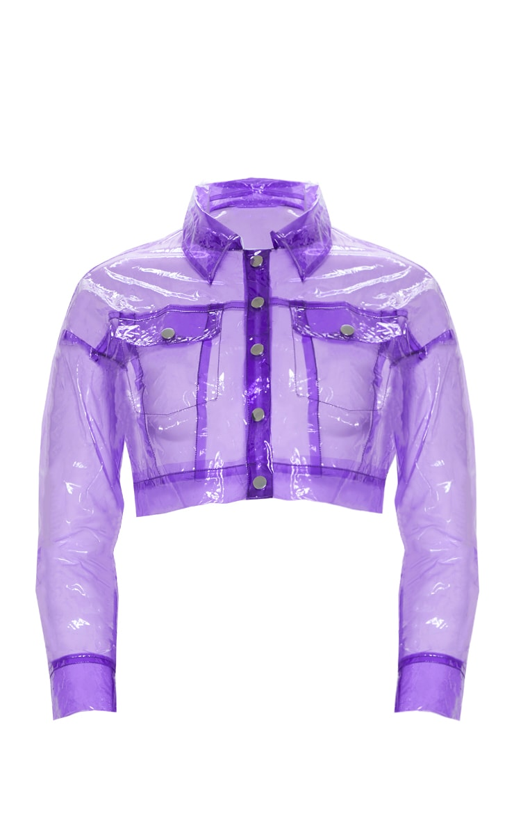 Lilac Transparent Crop Jacket 4