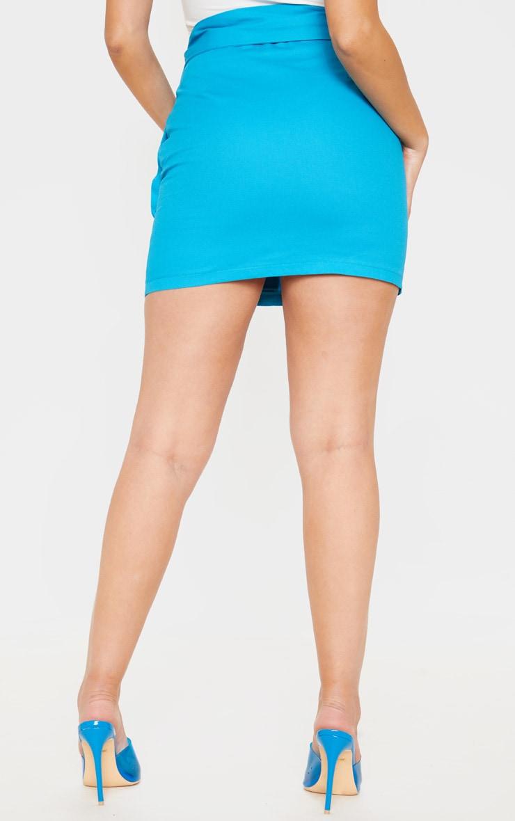 Bright Blue Utility Tie Waist Mini Skirt  4