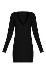 4fc6a3624fa24 Accueil  Navella robe pull tricotée noire col en V ultra plongeant. Un  rappel de confidentialité de la part de Lire plus Je suis d accord. Previous