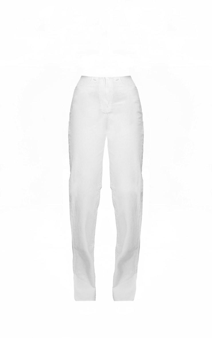 Off White Split Hem Jeans With Bum Distress 5