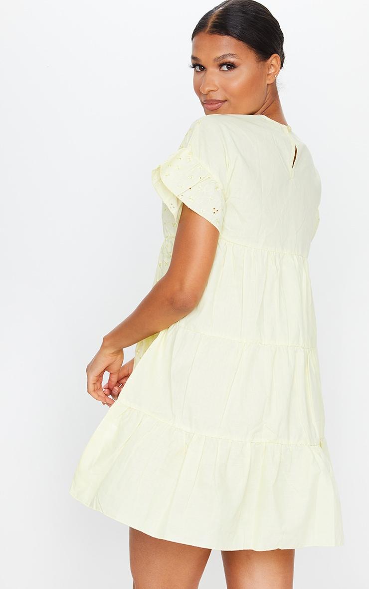 Lemon Broderie Anglaise Smock Dress 2