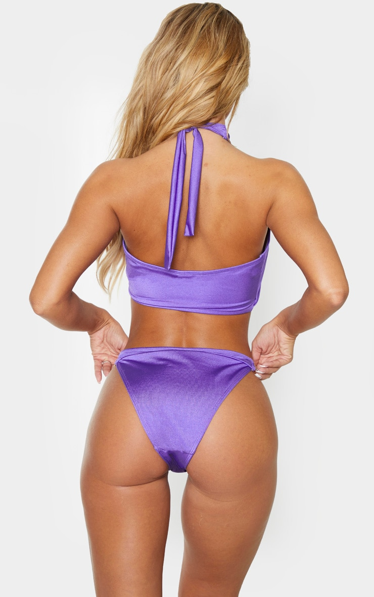 Purple Diamante Jewel Bikini Bottom 3