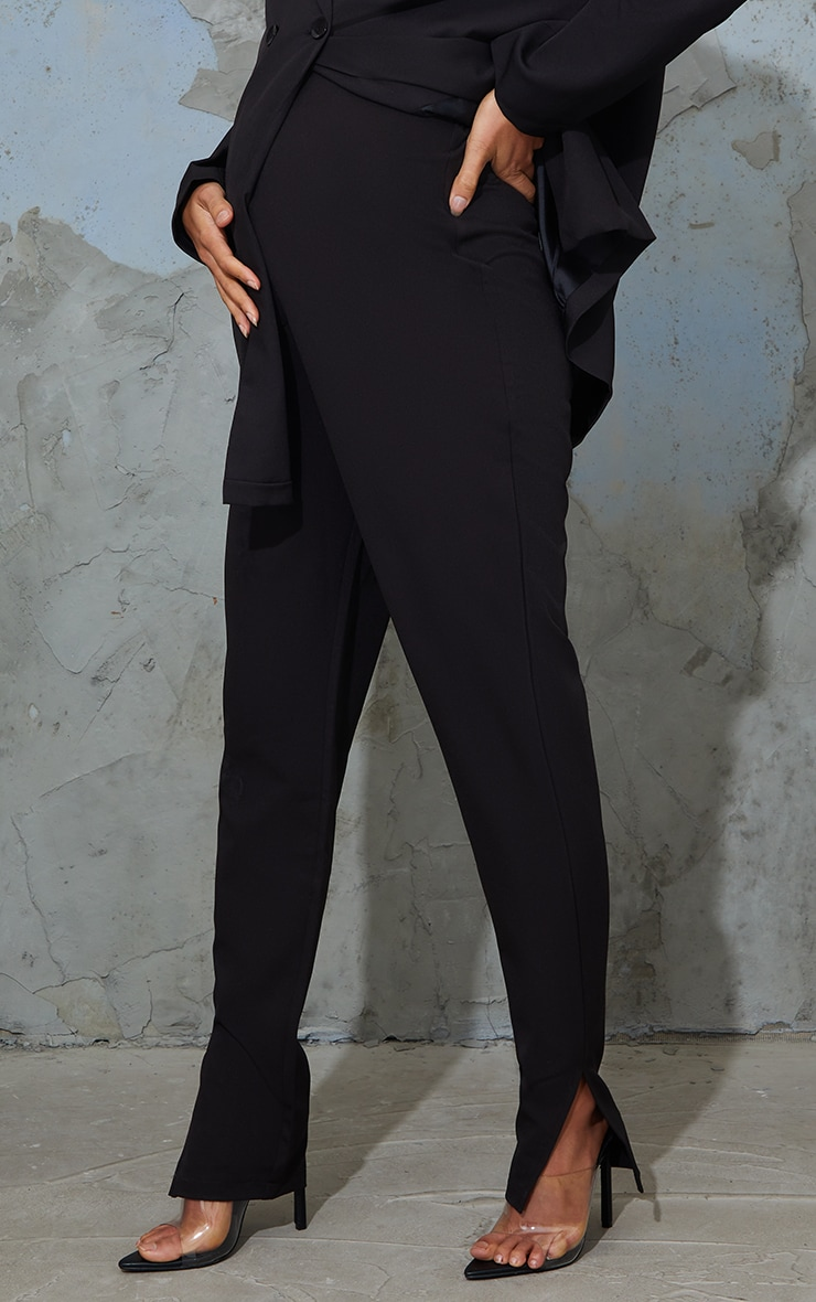 Maternity Black Bump Support Suit Trousers 2