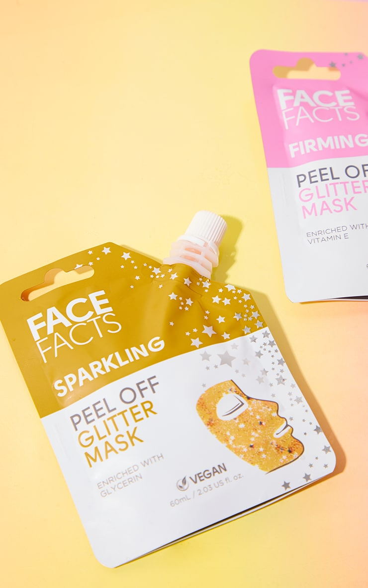 Face Facts Glitter Peel Off Mask Gold 3