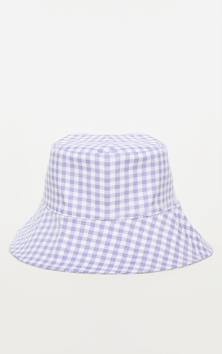 Lilac Reversible Bucket Hat 1