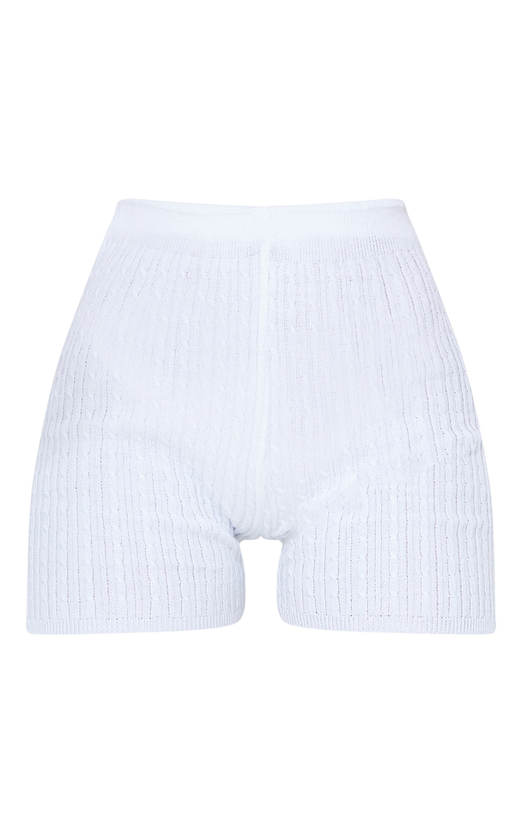 White Cable Knitted Short 6