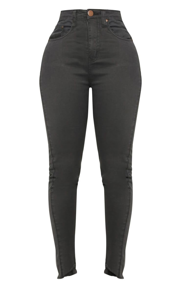 Shape Charcoal High Waisted Skinny Jeans 3