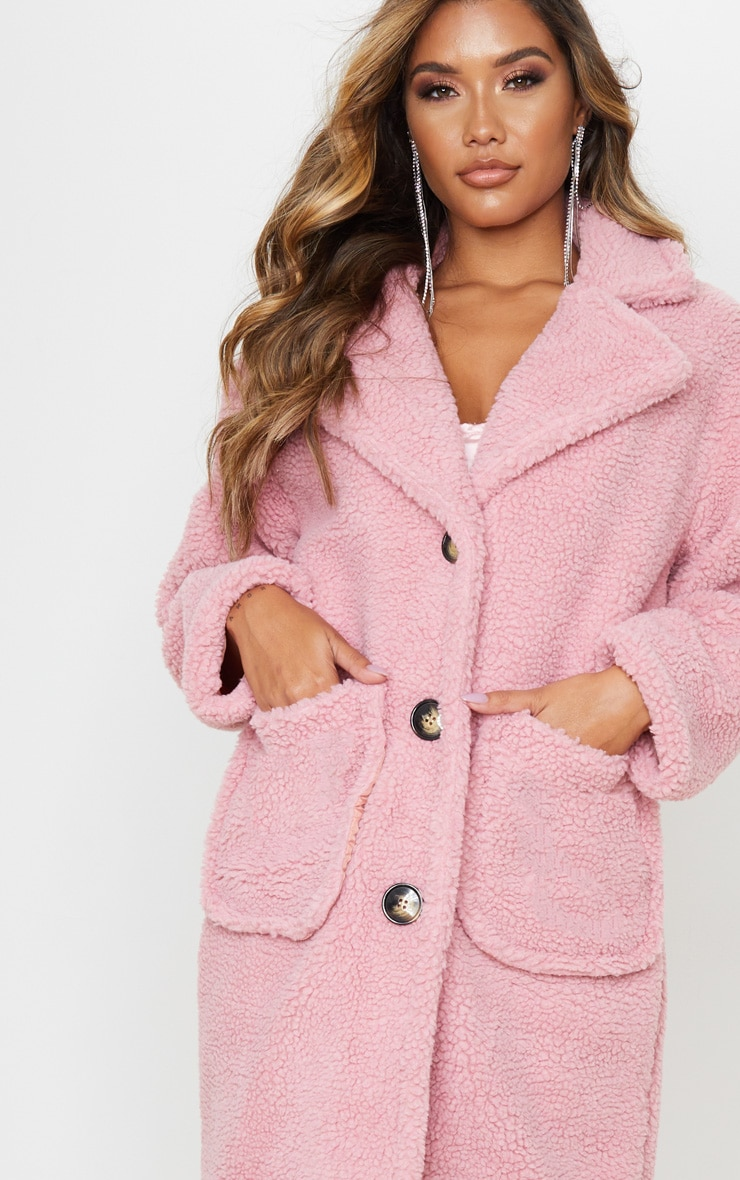 Rose Maxi Borg Coat 6