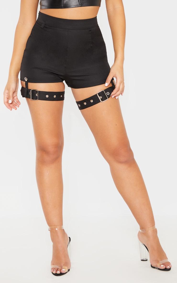 Black Harness Detail Short 2