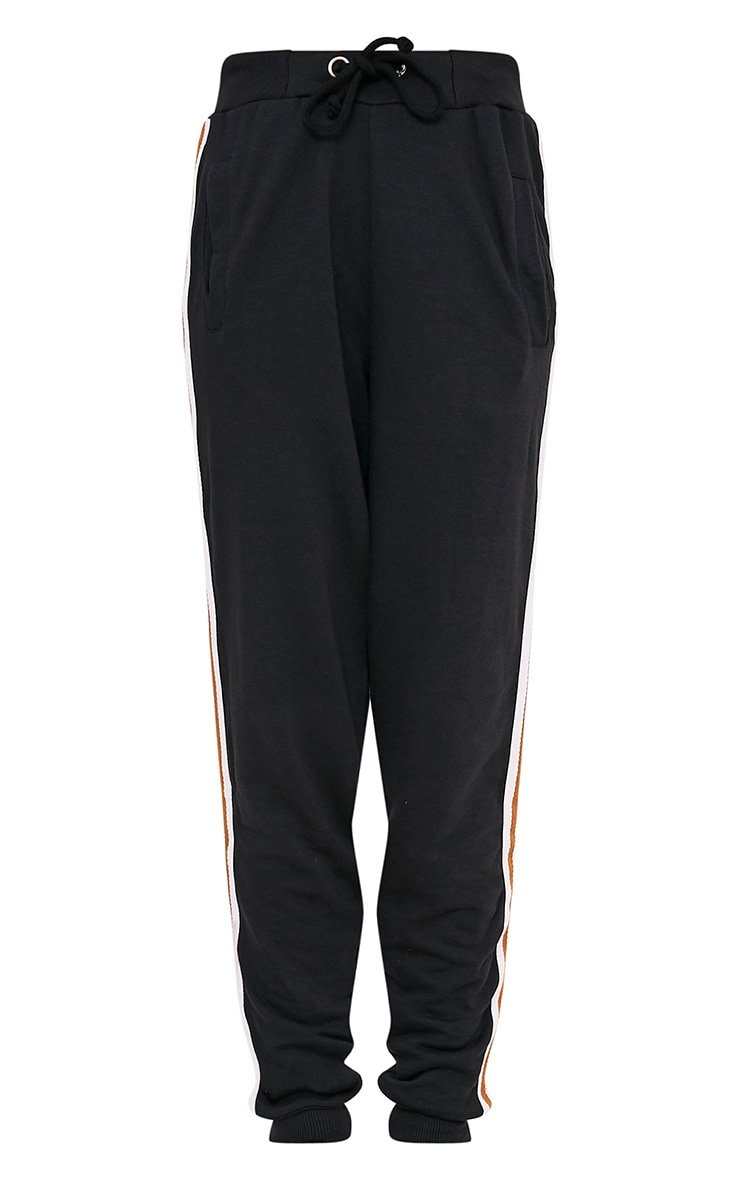 Black Side Stripe Track Pants 3